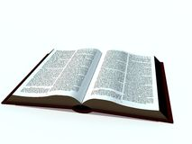Open Book. An open large book, isolated on a white background Royalty Free Stock Images