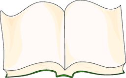 Open book. Isolated open book, vector illustration Royalty Free Stock Photo