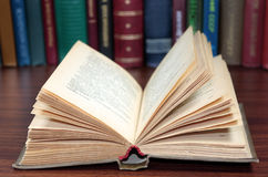 Open book. On the writing-table Royalty Free Stock Photography