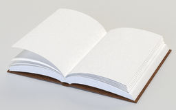 Open book. An open book with white pages Royalty Free Stock Photos