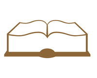 Open book. Symbol on white background Stock Image
