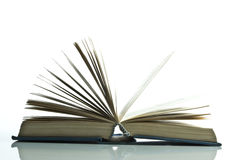 Open book. Book on the white background Royalty Free Stock Photography