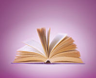Open book on a abstract background Stock Photography