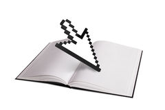 Open Book and Arrow Cursor Stock Images