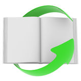 Open book and arrow Royalty Free Stock Photography