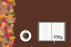 Open book autumn concept Royalty Free Stock Image