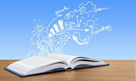 Open book on background. Open book image white background object nobody royalty free illustration