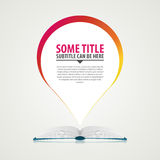 Open book background with speech bubble. Vector.  stock illustration