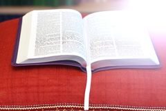 Open book Bible. The book of life.  stock photography
