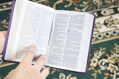 Open book Bible. The book of life.  stock images