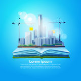 Open Book Big City Geography Read School Education Knowledge Concept Royalty Free Stock Photography