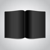 Open Book with Black Glossy Pages Royalty Free Stock Photography