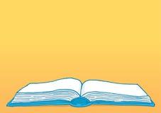 Open book with blank copy space. Cartoon illustration education background with blank open book Stock Photos