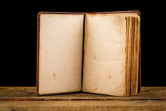 Open Book blank on old wood background Royalty Free Stock Photo