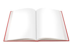 Open Book with Blank Pages Stock Photo