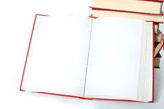 Open book with blank pages Stock Photos