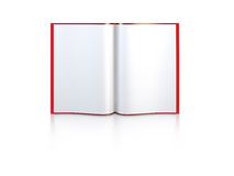 Open book with blank pages. 3d rendering Stock Photos