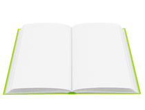 Open book with blank pages Royalty Free Stock Images