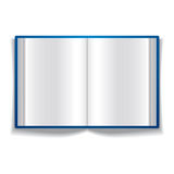 Open book with blank pages. Royalty Free Stock Photo