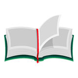 Open Book with Blank Pages vector illustration