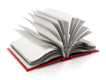 Open book with blank white pages. 3D illustration Royalty Free Stock Image