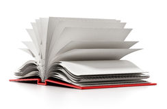 Open book with blank white pages. 3D illustration Stock Photos