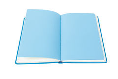 Open Book blue page on white Royalty Free Stock Photography