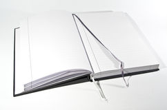 Open book with bookmarks Stock Images
