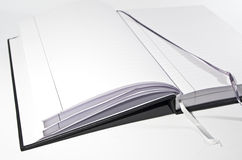 Open book with bookmarks Royalty Free Stock Photos