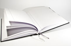 Open book with bookmarks Stock Photography
