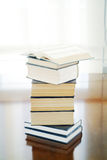 Open book on  books Royalty Free Stock Images