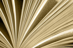 Open book browse pages Stock Image