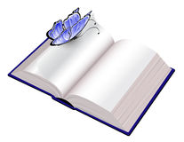 Open book with butterfly Royalty Free Stock Photography