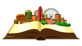 Open book city Stock Image