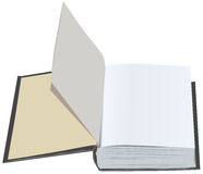 Open book with clean first sheets. Open book with blank first pages Royalty Free Stock Photo
