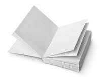 Open book with clean sheets Royalty Free Stock Photos