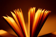 Open book close-up royalty free stock photos