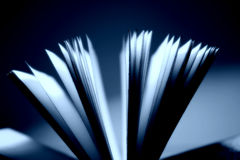 Open book close-up royalty free stock images