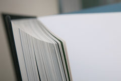 Open book close up. Stock Photo