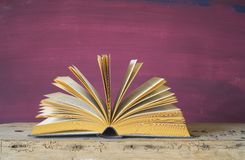 Open book,close up Stock Image