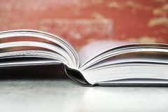 Open book close up Royalty Free Stock Image