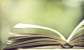 Open book. Close up on open book pages Royalty Free Stock Photography