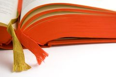 Open Book (Close View). Detail shot of an open book Royalty Free Stock Image