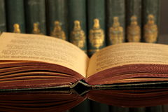 Open book with collection A Royalty Free Stock Image