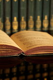 Open book with collection B Stock Image