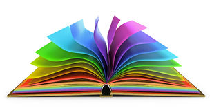 Open book with colorful pages Royalty Free Stock Photos