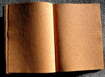 Open book with cork pages Stock Image