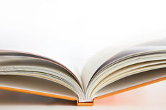 Open book cover with white background Stock Image