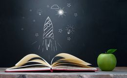 Open book creativity and learning concept Stock Images