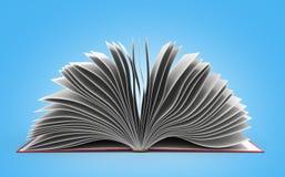 Open book 3d render on gradient background. Open book 3d render on gradient Royalty Free Stock Images